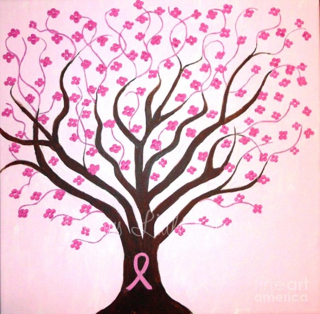 pink ribbon tree
