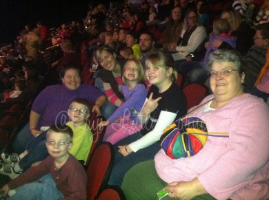 Disney on Ice with family