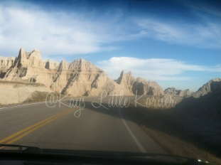 Entering Badlands, SD