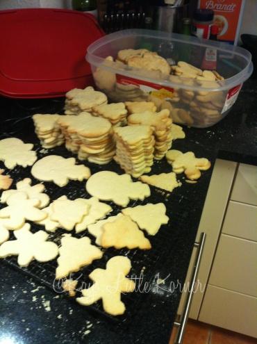 Baking and making piles
