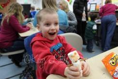 Noah made a snowman!