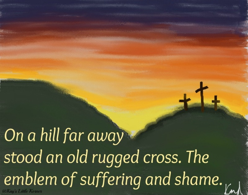 rugged cross painting